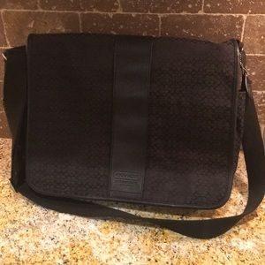 Black Coach Laptop Bag